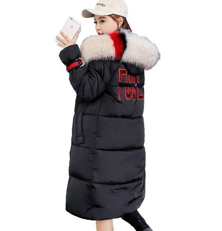 Big fur winter coat thickened parka Maternity down jackets long winter coat down cotton ladies down parka pregnancy clothing цены