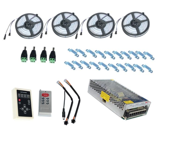 20 m 30 m 10 m 5 m LED bande 5050 Dream colour Magic RGB étanche IP67 133 + IC6803 RF télécommande + adaptateur secteur livraison gratuite