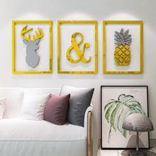 Ins Nordic style 3d self-adhesive acrylic DIY wall sticker Living room porch sofa background bedroom decoration painting