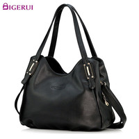 Genuine Leather Bag for Women Luxury Brand Designer Real Leather Handbags Ladies Casual Shoulder Messenger Bags A110