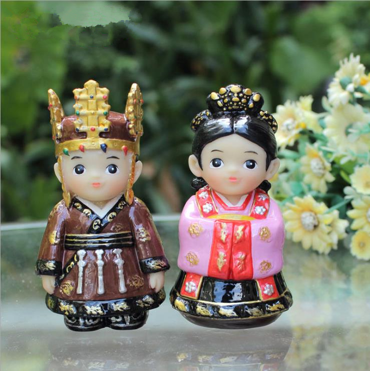 Fashion Resin Korean Couple Doll Creative Souvenirs