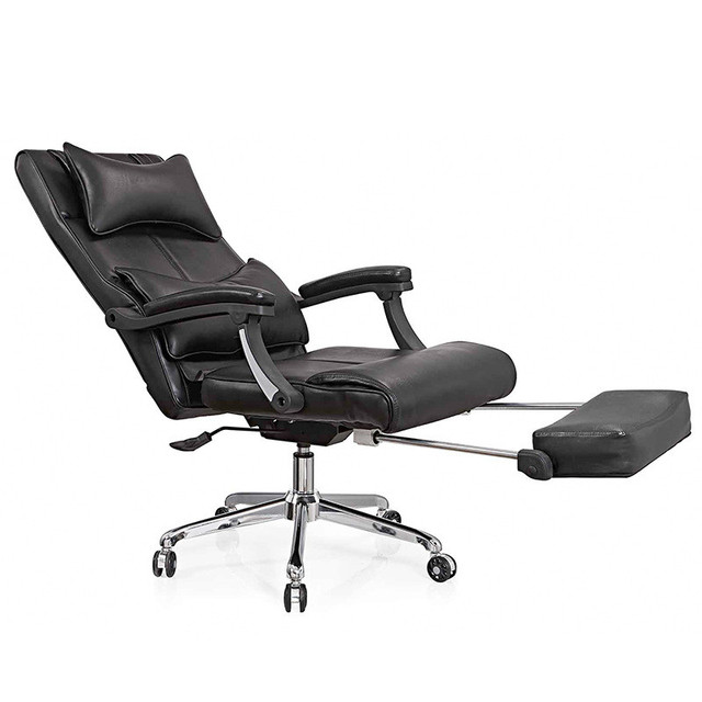 Luxurious and comfortable office chair boss computer chair flat multifunction chairs capable of rotating and lift silla oficina