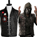 New Original Watch Dogs 2 Wrench I am Dedsec Shawn Baichoo Vest Uniform Cosplay Costume For Men Black Coat Halloween Party