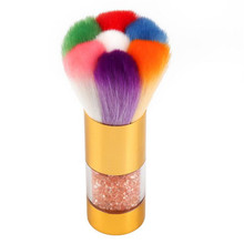 Dust Multi-functional makeup Brushes Acrylic UV Nail Gel Powder Nail Art Dust Remover Brush Cleaner Rhinestones Foundation Tool