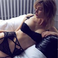 2017 New Design Bra Panties Garter 34 38 ABCD Lace Sexy Bra Cup Suspenders Belt And