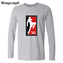 wangcangli MMA UFC heavy metal mens fashion 2017 t-shirt cotton t shirt men summer Long Sleeve Tees Tops