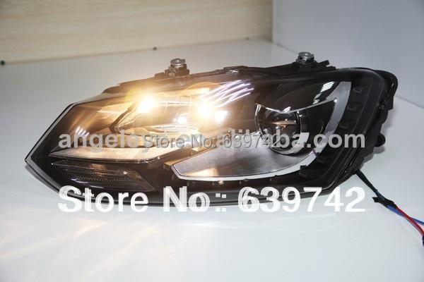 Za VW Cross Polo LED svjetla s biksenonskim lećama projektora - Svjetla automobila - Foto 5