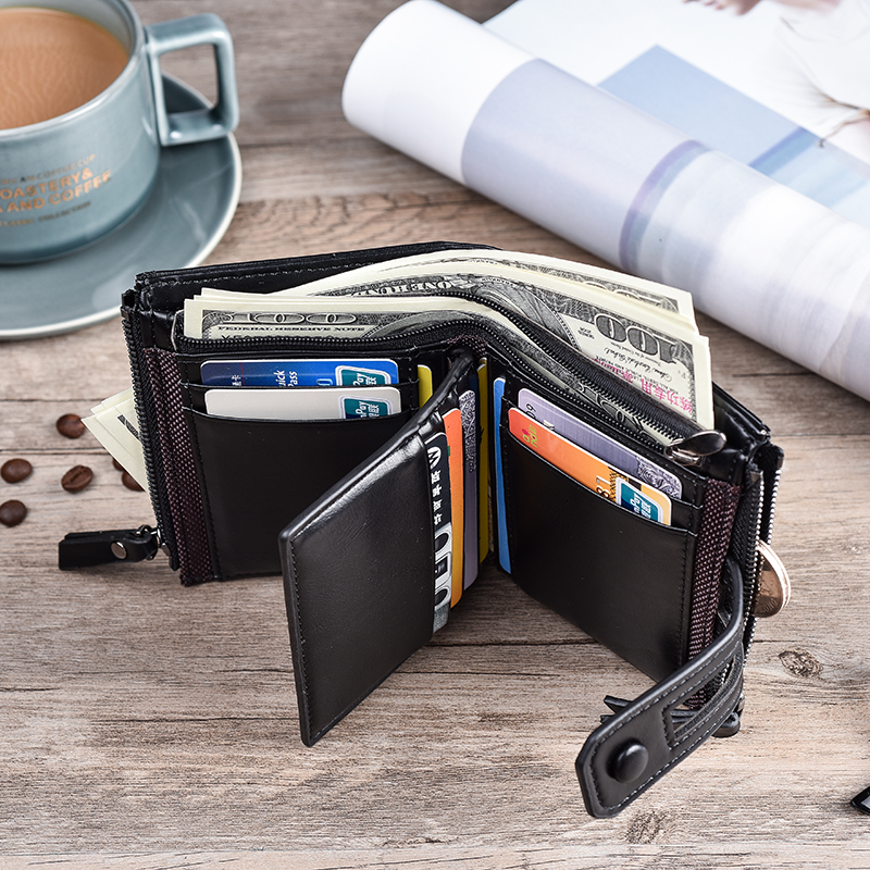 HTB12h5wKgaTBuNjSszfq6xgfpXaK - JINBAOLA Men Wallet Brand Wallet Double Zipper&Hasp Design Small Wallet Male High Quality Short Card Holder Coin Purse Carteira