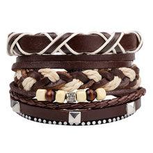 Set of Leather Bracelet