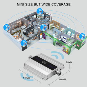 Repeater WCDMA 2100MHZ 3G Cellular Signal Verstärker LCD Display Handy Signal Booster Yagi + Peitsche Antenne Koaxial kabel *