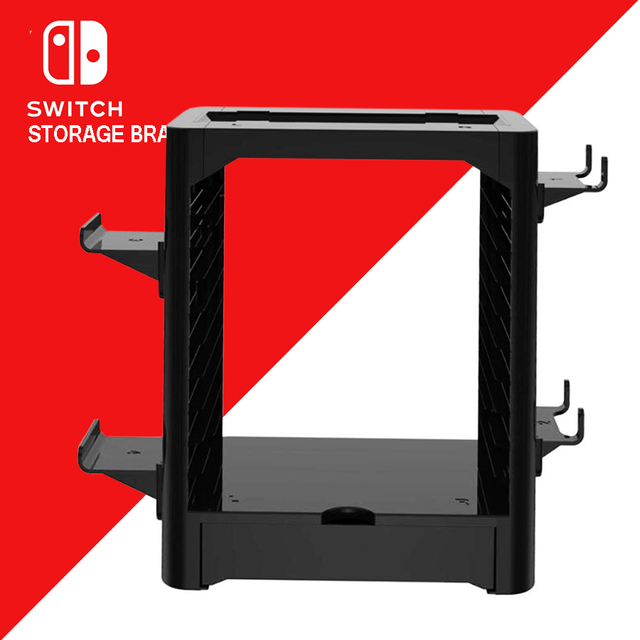 Nintend Switch NS Accessories Game Disc Storage Bracket Holder Tower for Nintendo Switch Joystick Carrying Stand  3