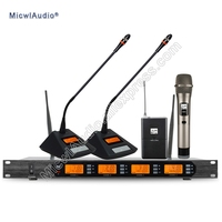 D400 4x100 Channel Digital Wireless Microphone System 2Gooseneck + 1Bodypack + 1Handheld Micwl.Audio D400 006
