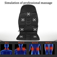 Professional Car Household Office Full Body Massage Cushion Lumbar Heat Vibration Neck Back Massage Relaxation Seat