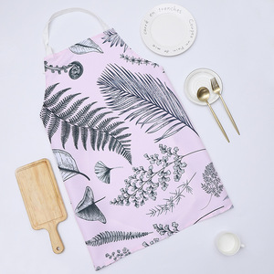 Image 4 - 1 Ps Chic Flower Pattern Unisex Cooking Dining Kitchen BBQ Restaurant Cleaning Waterproof Waitress Housework Aprons Dropshipping