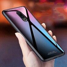 Luxury Glossy Tempered Glass Phone Case For Meizu 16th Soft TPU Hard Back cover meizu 16 plus cases capa coque fundas