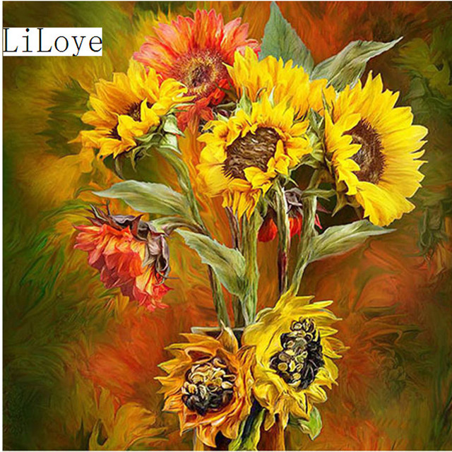 LI LOYE 5D DIY Diamond embroidery new Mosaic Flower Of living room ...