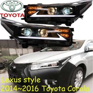 Image 3 - Car Styling dla Corolla reflektor altis 2017 ~ 2019/2014 ~ 2015 rok LED DRL ukryta żarówka soczewki biksenonowe wysoka martwa wiązka Parking lampa przeciwmgielna