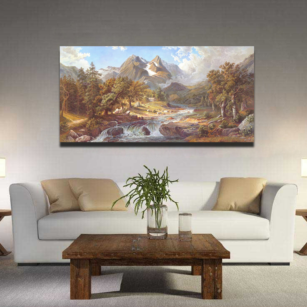 100% Handpainted  Classic Landscape Oil Paintings  Art Tree Pictures for Living Room Wall Canvas Paintings free shipping100% Handpainted  Classic Landscape Oil Paintings  Art Tree Pictures for Living Room Wall Canvas Paintings free shipping