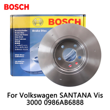 2pieces/set BOSCH Car Front Brake Disc For Volkswagen SANTANA Vis 3000 0986AB6888
