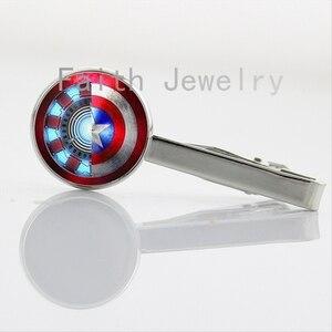 Super hero tie clips Super Smash Bros Star Wars CP USA amer ear Cosplay Necktie Bar Clasp Clamp Pin gift idea NS182