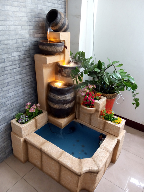 European Pond Rockery Water Fountain Features Indoor Home Furnishings Living Room Garden Landscape