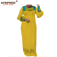 2019 spring&autumn african women dress AFRIPRIDE tailor made full sleeve floor length women cotton dress A1825095