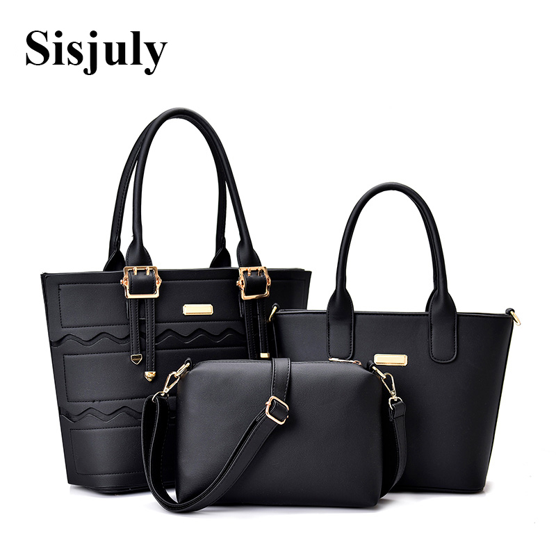 3a2dd35780cb Sisjuly 3 Pcs set Composite Bags Women Handbags Large Crossbody Tote Bag  for Ladies Women