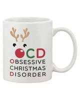 11oz OCD Obsessive Christmas Disorder Funny X-Mas Mug Coffee Mug Tea Cup