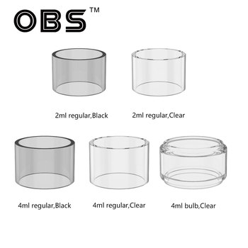 2pcs Original OBS Cube Replacement Glass Tube 2ml/4ml for OBS Cube Kit Electronic Cigarette Pyrex Glass Tube Vape Part Accessory