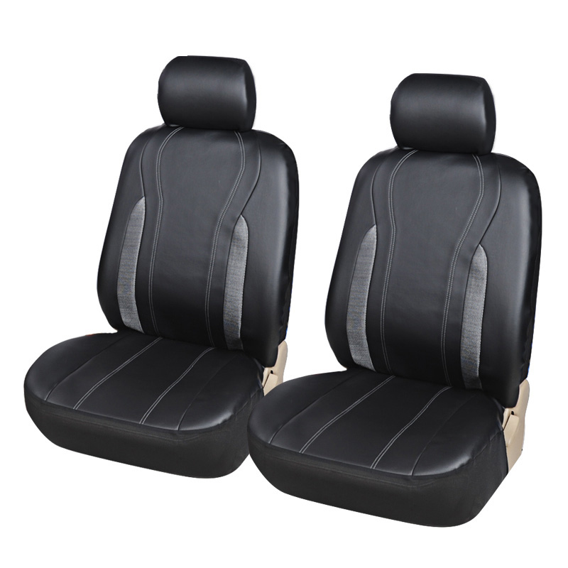 Black /& Grey  Leather Look Seat Cover Set Universal Fit for Peugeot RCZ