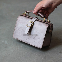 DIY leather material Handmade leather bag's original material package BXK 122 gold casual bag semi finished bag