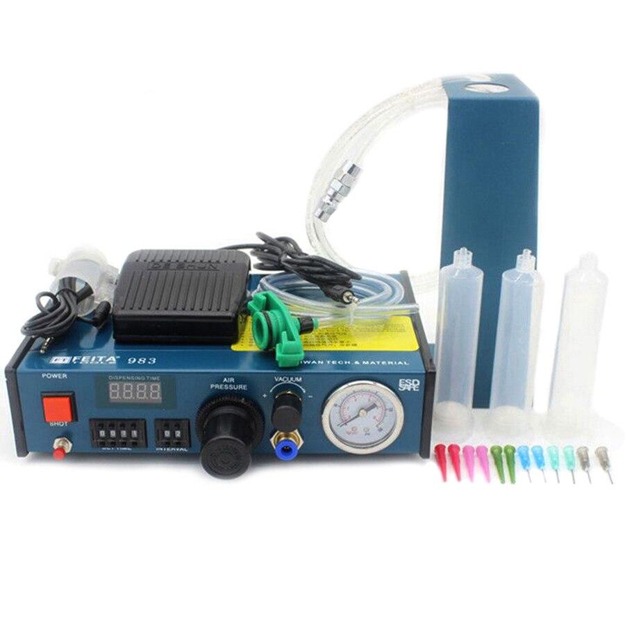 FT-983 FEITA Desktop Automatic Glue Dispensing Machine / Epoxy Resin Glue Dispenser Machine high quality ft 982 automatic glue dispenser dispensing machine with glue tips