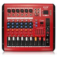 48V LCD digital display 6 Channel Head phone monitoring bluetooth Mixer Mixing Console for Recording DJ Stage