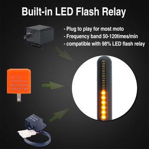 Image 2 - 4 adet flaşör motosiklet LED dönüş sinyalleri 4E işareti dur sinyal akan su ışıkları kuyruk flaşör/koşu flaşör DRL honda için