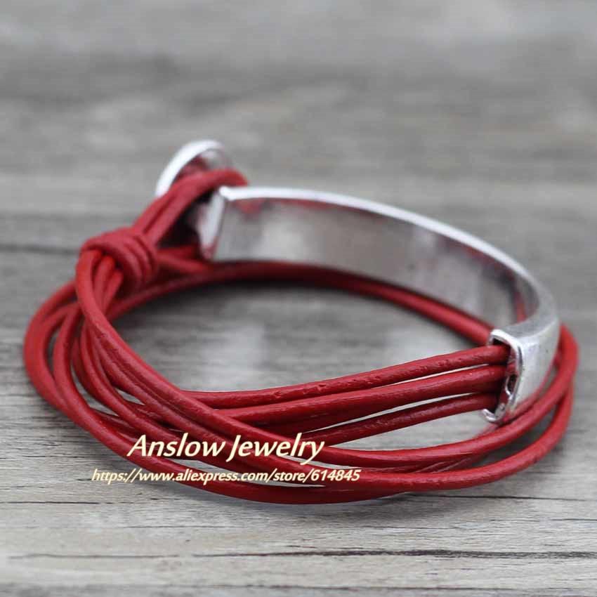 Anslow 2018 Klassik Unisex Charm Vintage Style Yeni Unikal Gümüşü - Moda zərgərlik - Fotoqrafiya 5