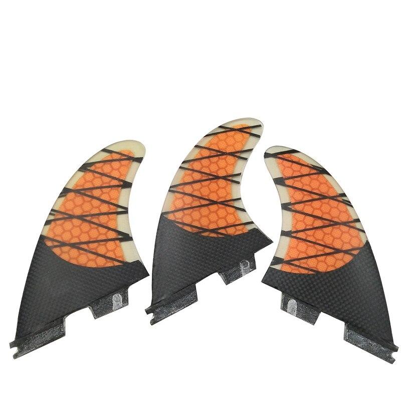 Σέρφινγκ FCS2 Fin K2.1 Πορτοκαλί Φύλλα κηρήθρα Φύλλα στροβίλου Πτερίσματα FCS2 Πτερύγια σε Surfing
