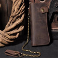 Men Genuine Leather Wallet High Quality Men's Long Brown Wallet Purses Card Holder Male Clutch Bags AWL006
