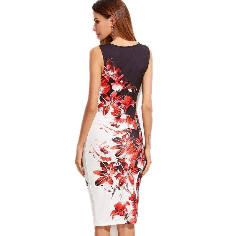 5XL-Large-Sizes-2019-Summer-Fashion-Sleeveless-Print-Dress-Slim-Bodycon-Pencil-Midi-Office-Dress-Robe (2)