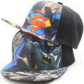 Дети Бейсболка Мода Железный Человек Капитан Супермен Бэтмен Человек-Паук One Piece Snapback Шапки Дети Мальчики Хип-Хоп шляпа 2203