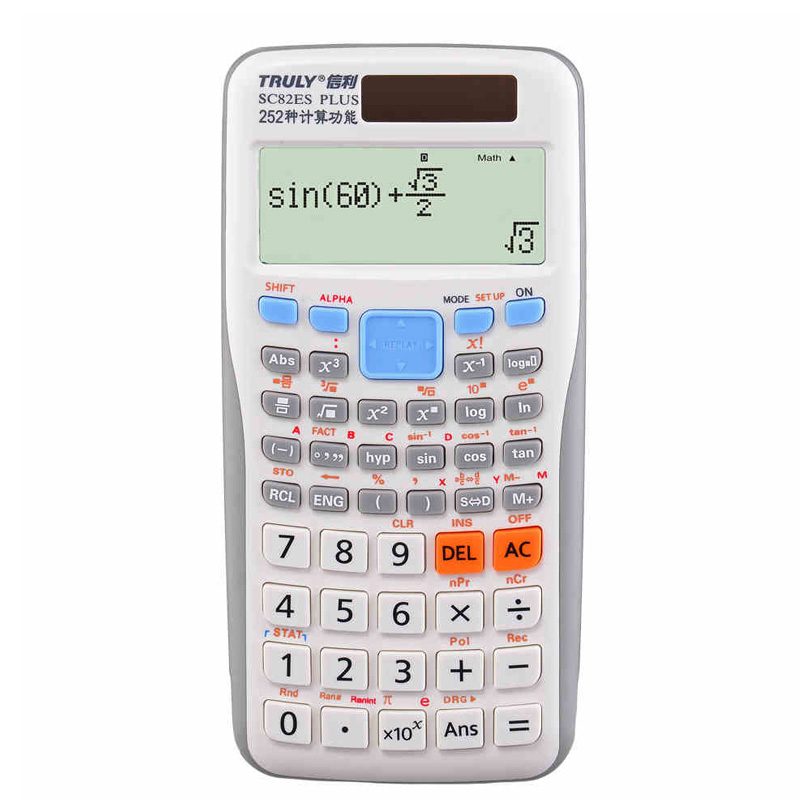 ФОТО Solar LED Calculator Scientific Sc 82es with 249 Function Better Than 991ES Dual Power Colorful Calculadora Cientifica Student