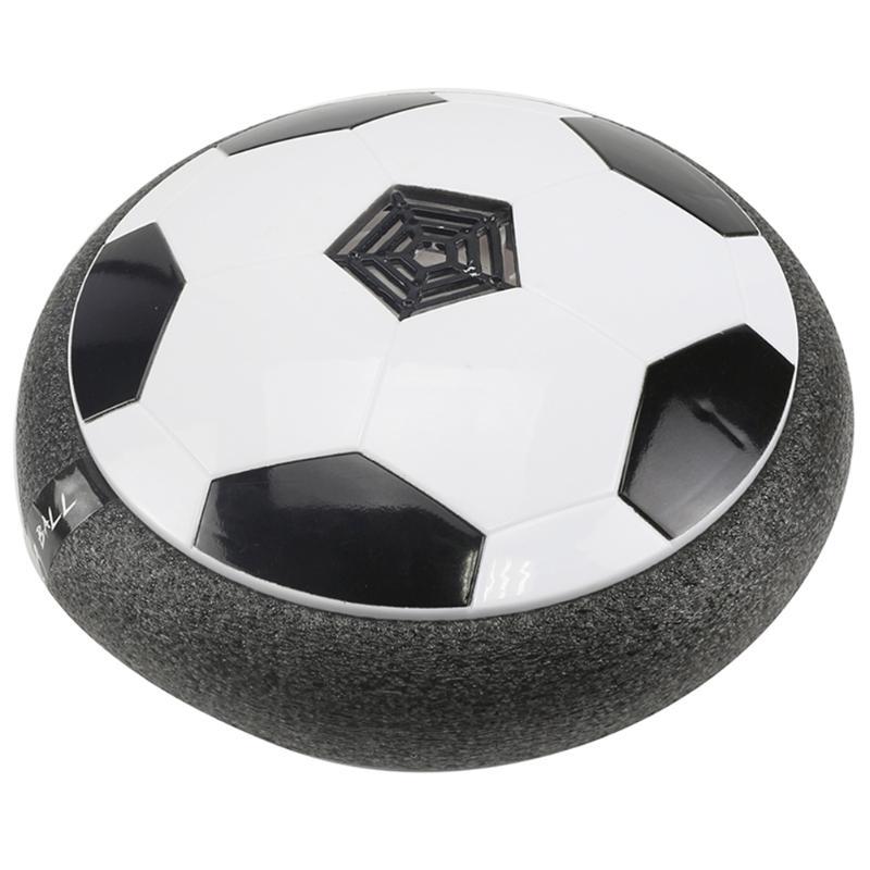 Niños levitar Suspending balón de fútbol cojín de aire flotante de espuma de fútbol con luz LED música Gliding juguetes fútbol juguetes niños regalos