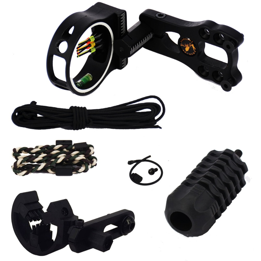 Archery Upgrade Combo Bow Sight Kits Arrow Rest Stabilizer Optic Sight Compound/Recurve Bow hunting AccessoriesArchery Upgrade Combo Bow Sight Kits Arrow Rest Stabilizer Optic Sight Compound/Recurve Bow hunting Accessories