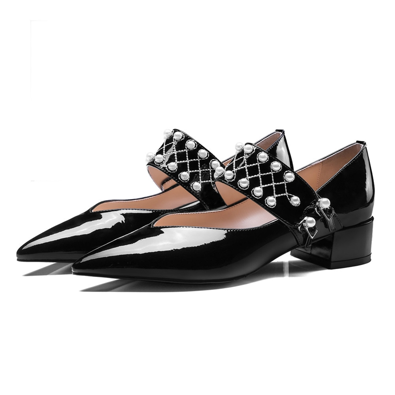 Zyl2276 Cuir Pompes Chaussures Véritable 40 Sangle Bout Décontracté black 34 Pointu Beige Femmes Dames Boucle En Pour Enmayla Taille Eawqx48E