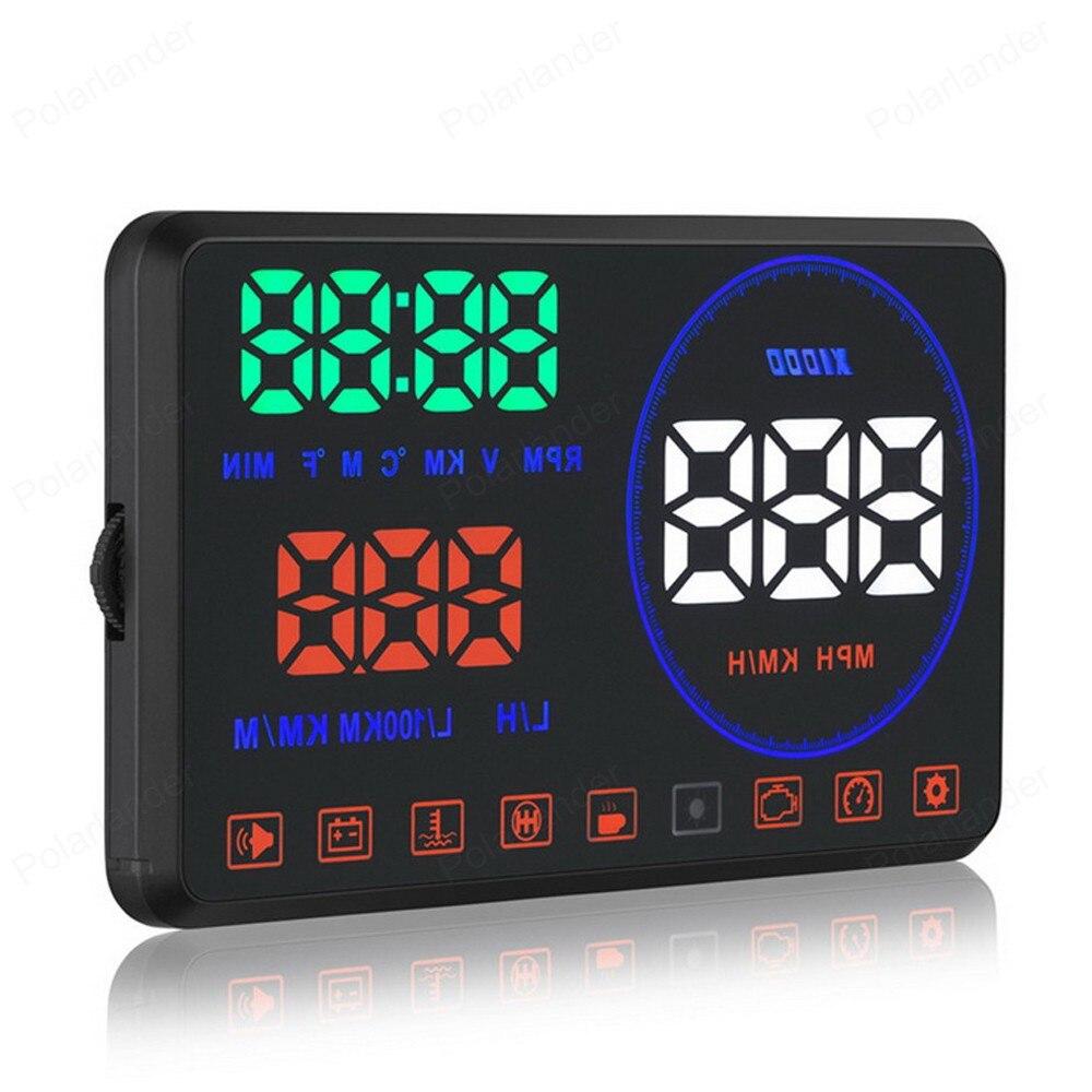 Projet automatique de pare-brise d'alarme de survitesse de mesure de Distance de M9 HD 5.5 pouces avec l'affichage de tête de voiture OBD2 et EUOBD