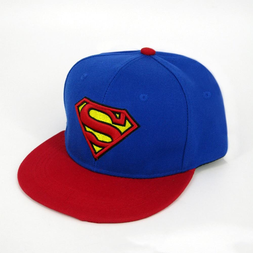 2018 Fashion embroidery Superman Snapback hat Super Man Adjustable Hip Hop Casual Baseball cap for adults