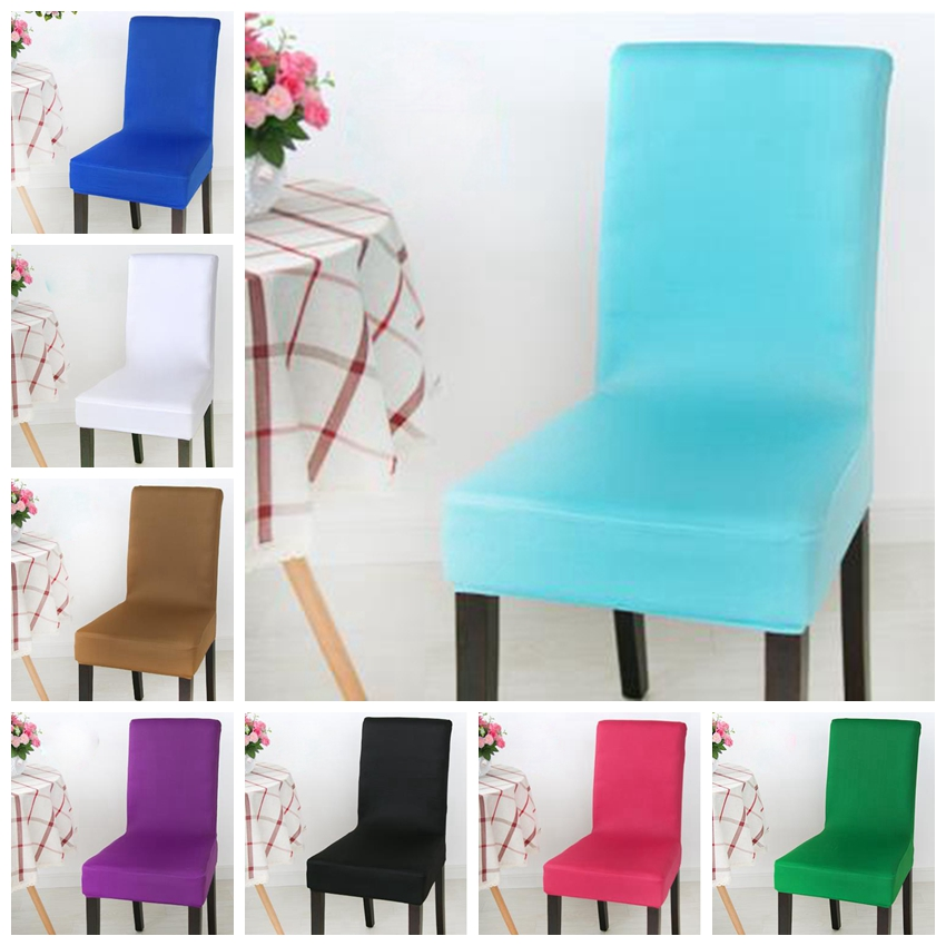 Spandex Lycra Chair Cover Fit For Square Back Home Chairs Wedding Party Home Dinner Decoration Half Cover