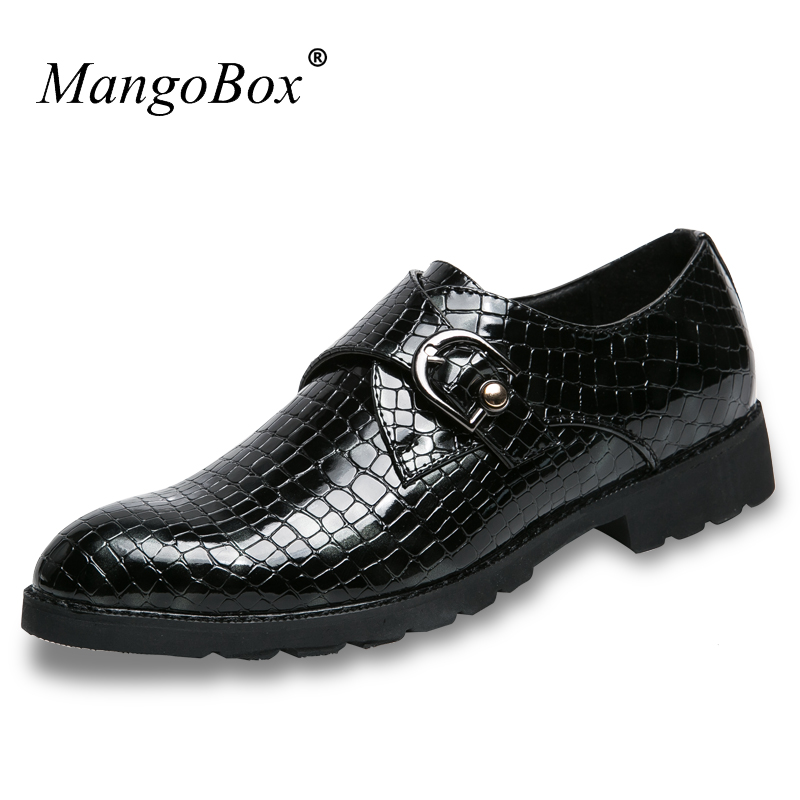 MangoBox Hot Sale Casual Shoes Men Buckle Strap Genuine Leather Sneakers Men Red Blue Pointed Toe Sneakers for Men hot sale mens italian style flat shoes genuine leather handmade men casual flats top quality oxford shoes men leather shoes