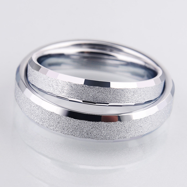 Silver Color White Tungsten Ring