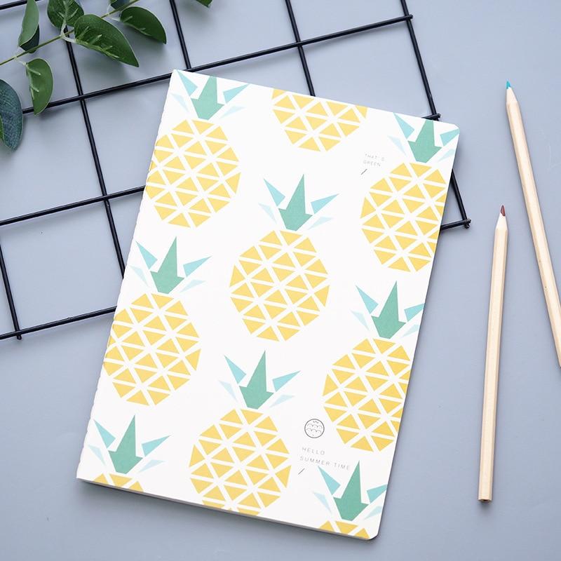 Yellow Pineapple Notebook Cartoon Cute Journal Diary Planner Notepad  2