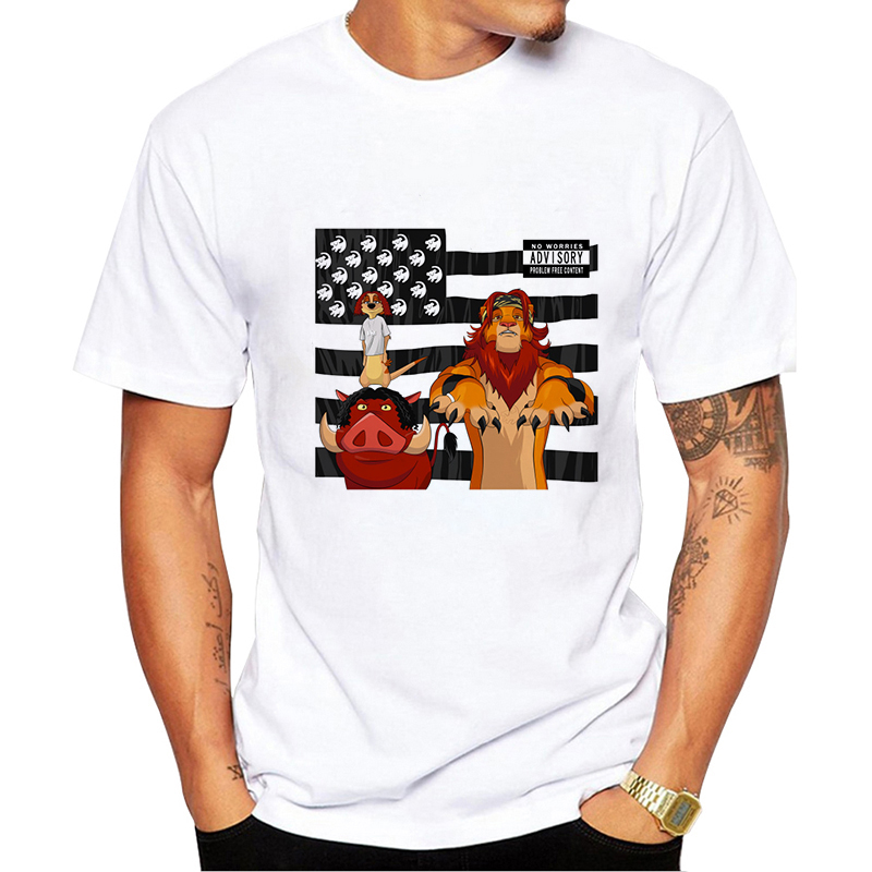 HAKUNA MATATA  NO WORRIES ADVISORY Lion King Simba  Best Friend Timon And Pumbaa Billie Eilish Harajuku  Hip Hop Men T Shirt